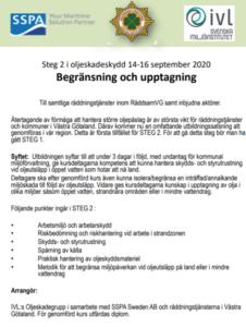 Oljeskydd RäddsamVG Steg 2 @ Färjenäs Utbildningsanläggning